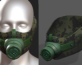 game-ready Gas mask respirator scifi futuristic 1