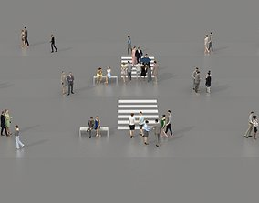 low-poly 3D PEOPLE CROWDS- ULTIMATE SPEED SOLUTION - 2