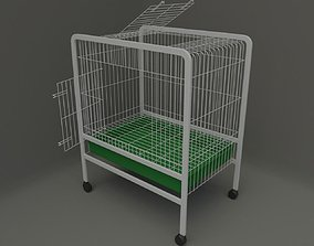 Cage for small pet 3D model doors