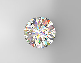 3D printable model Round Brilliant Cut Diamond