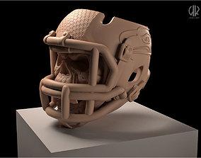 Skull in helmet for american football 3D printable model