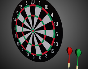 3D asset Lowpoly Pbr Game Ready Darts