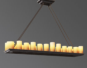 3D model Candle Rectangular Chanderlier
