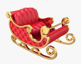 Santa sleigh year 3D