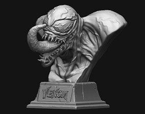 character 3D print model Venom Bust - Marvel