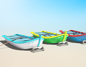 3D asset Painted Fishing Boat
