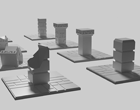 Dwarven Fort Pillar Floor tile pillar 3D print model