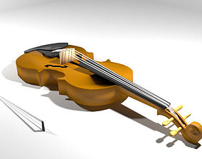 fingerboard Violin 3D