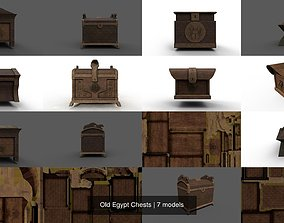 3D Old Egypt Chests