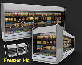3D model store refrigerator freezer fridge cold storage