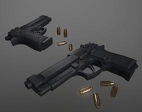 Pistol m92f 3D model