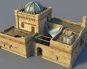 3D Oriental desert house
