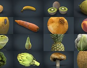 FRUIT AND VEGETABLES COLLECTION PACK 3D