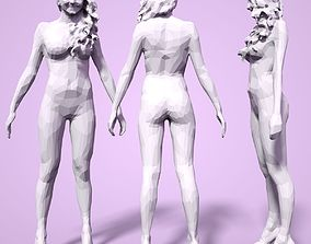 3D print model Girl Low poly Sculpture woman