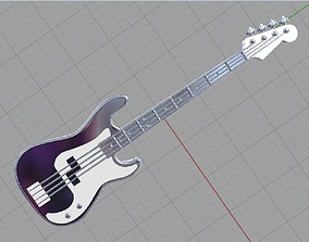 3D printable model Guitar pendant