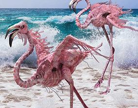 Flamingo Monster 3D asset