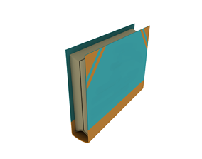 Books 3D model rigged
