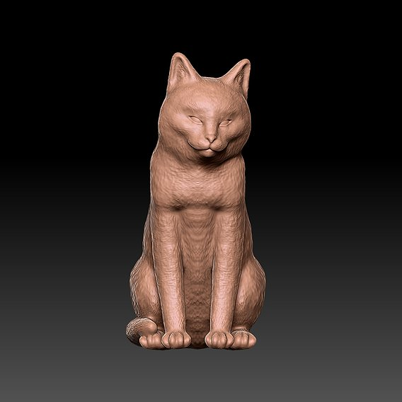 Sitting Cat for 3D Printing