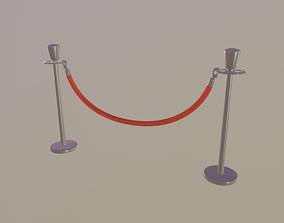 3D model low-poly Stanchions