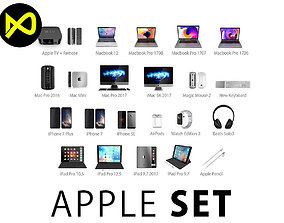 Apple Complete Set 2017 3D