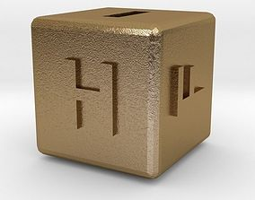 Dice118-alphabet 3D printable model