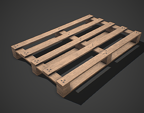 3D model Low poly European Wood pallet 02 PBR Game Ready
