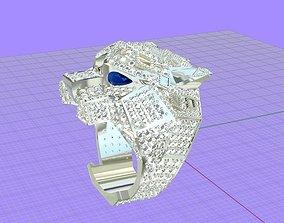 3D printable model ring tiger