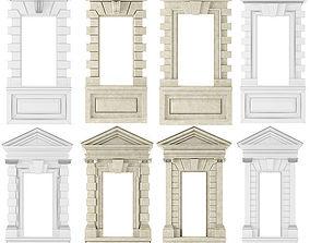 Classic Architecture Door and window portals 3D model