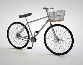 Mountain Bicycle Model in Cinema 4D with Texture 3D