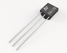 TO92 transistor 3D asset