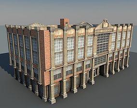3D asset Lowpoly Vintage Building
