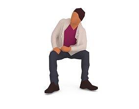 3D model Lowpoly Man 01