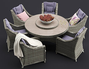 Comfort Outdoor Furnitures Set 3D