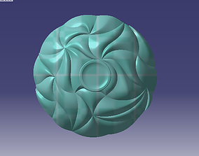 bamboo shallow large bowl 3D print model