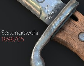 3D asset low-poly Seitengewehr 1898
