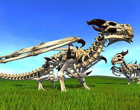 3D asset Undead dragon