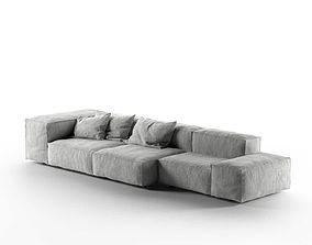 Neowall Sofa 3D model fabric