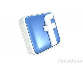 FaceBook letter 3d Logo