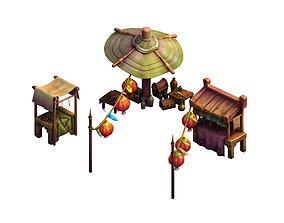 City - Small shop 02 gang 3D