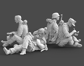 German soldiers rest 3D print model