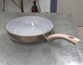 3D model Frying pan plate