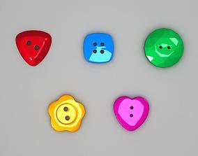 Button Shape Pack 01 3D