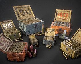 Ammo boxes 3D asset
