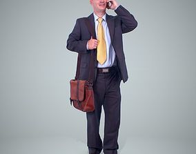 3D model Business Man Talking with Phone 1