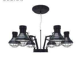 Lamp Kare Design Spider Multi 6-lite 3D model
