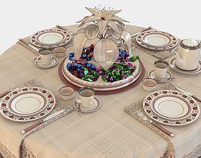 Tea table set 3D