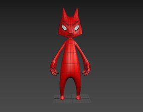 Low poly fantasy character 3D asset low-poly