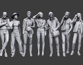 Lowpoly People Casual Pack Volume 3D model VR / AR ready