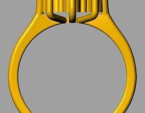 Cluster Ring 3D printable model diamond