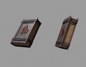 Spellbook 3D asset